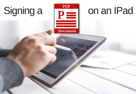 A key to being a mobile realtor is being able to execute offers from the field including doing a digital signature. In this video we will show you how to sign a pdf file from an IPad.