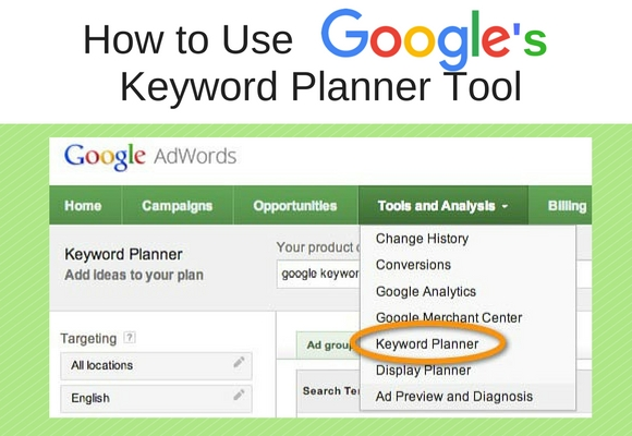 Picking the best keywords to use in your site content and especially if you are going to do Pay Per Click Advertising. The good news is Google has a great free tool called the Google Keyword Planner