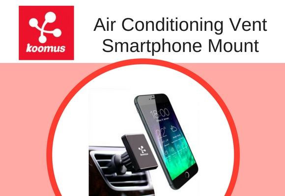 A lot of real estate is done on the road from our cars and of course you can't be texting, reading or using your devices while you drive. Everything needs to be hands-free and the Koomus Air Conditioning Vent Smartphone Mount/Holder is a great solution to help you be totally hands from and yet still be productive.