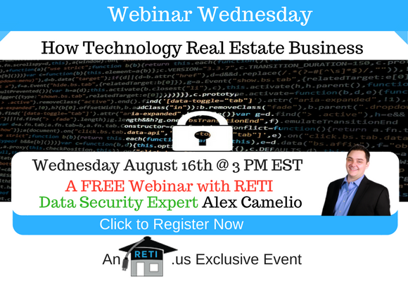 —- RETI's FREE Webinar Wednesdays  —- August 23rd / This Week's Topic —- Prospecting for New Real Estate Leads on Social Media w Amy Smythe-Harris